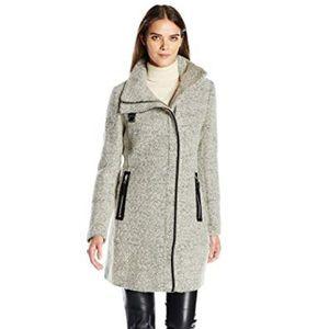 Calvin Klein   Boucle Wool Blend Walker Coat
